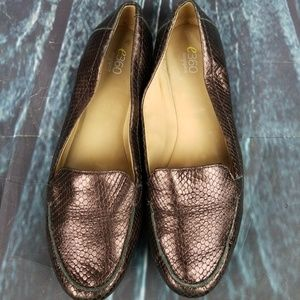 Easy Spirit 360 Bronze Leather Loafers Size 9.5